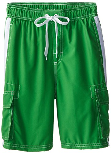 (Kanu Surf Big Boys' Barracuda Quick Dry Beach Swim Trunk, Green, Medium (10/12) )