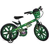 """Bicicleta Aro 16"""" Hulk Avengers Bandeirante Verde"""