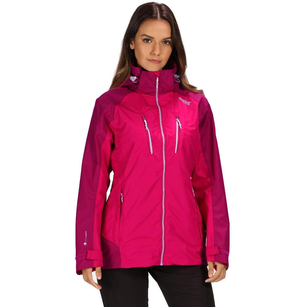 Regatta Womens Calderdale III Waterproof and Breathable Hooded Outdoor Active Hiking Blouson Femme