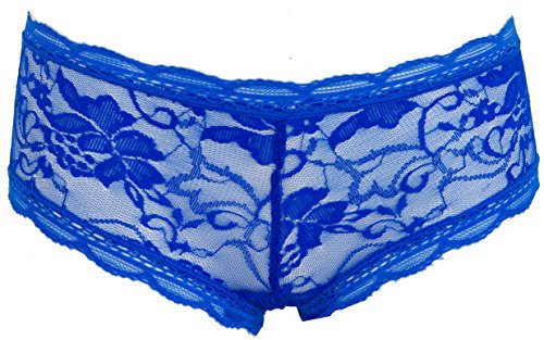 AvaMia, 6er Pack Pantys mit Spitze uni Hotpants Hipster French Knickers Damen Teen
