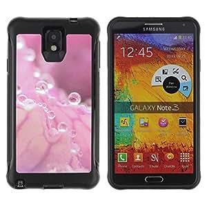 "Hypernova Defender Series TPU protection Cas Case Coque pour SAMSUNG Galaxy Note 3 III / N9000 / N9005 [Rosa del agua Gota rosa Splash""]"