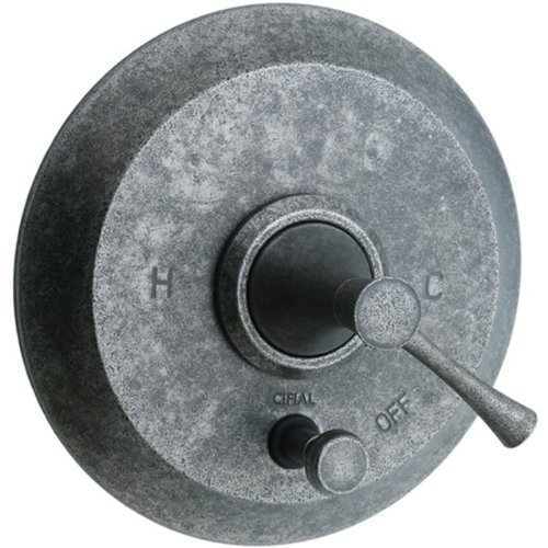 - Cifial 245.611.D20 Brookhaven Pressure-Balance Shower Valve with Diverter and Crown Lever Handle, Distressed Nickel