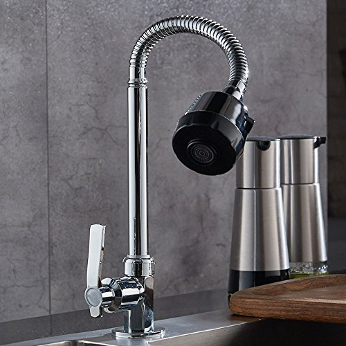 Dhpz Kitchen Mixer Kitchen Single Cold Wash Basin 304 Stainless Steel Sink Kitchen Sink Rotating, A by Dhpz (Image #5)