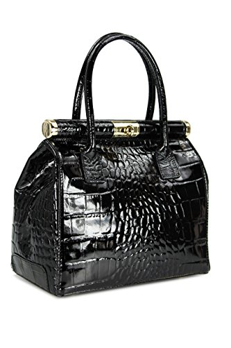 Belli Bag Mens Polished Black Black Leather Tote HqwfrHCx4