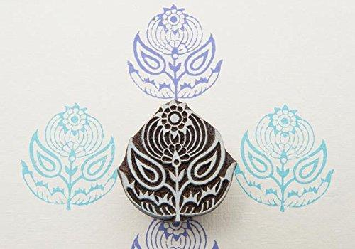 Blockwallah Tribal Flower Motif Wooden Block Stamp