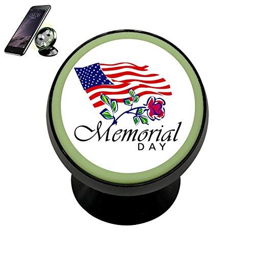 Pedestal Memorial (Happy Memorial Day Magnetic Stand Holder Mobile Phone Bracket Cellphone Car Mount Holder For Smartphone)