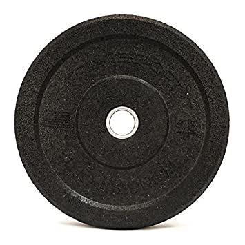 10-45lb Crumb Bumper Plate Pairs by Diamond Pro – Recycled Rubber Bumper Plates – for Crossfit, Olympic Lifting, Strength Training