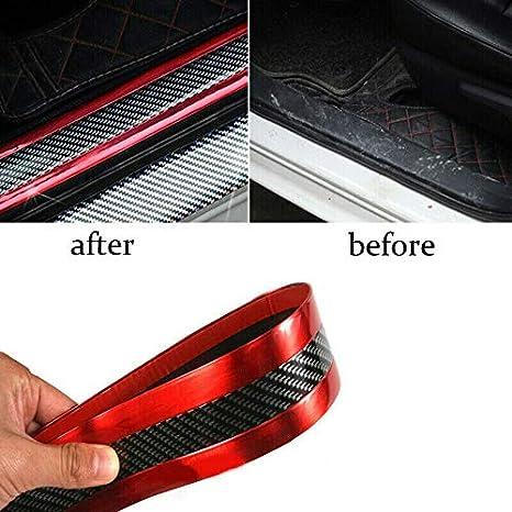 DD-BOMG Style de voiture Pare-chocs avant de garniture de bande de moulage en fibre de carbone de protecteur de seuil de porte