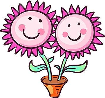 Amazon Cute Happy Smiling Nursery Flower Emoji Cartoon Art