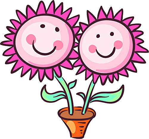 Amazoncom Cute Happy Smiling Nursery Flower Emoji Cartoon Art