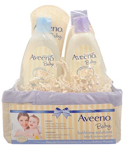 Aveeno Bathtime Solutions 4-Piece Gift Set - ivory/purple, one size
