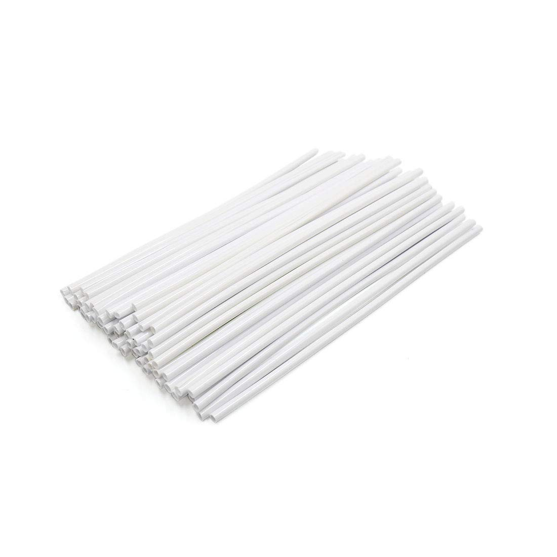 sourcing map 72pcs 23.5cm Length Motorcycle Wheel Steel Wire Spoke Reflective Clip Tube White