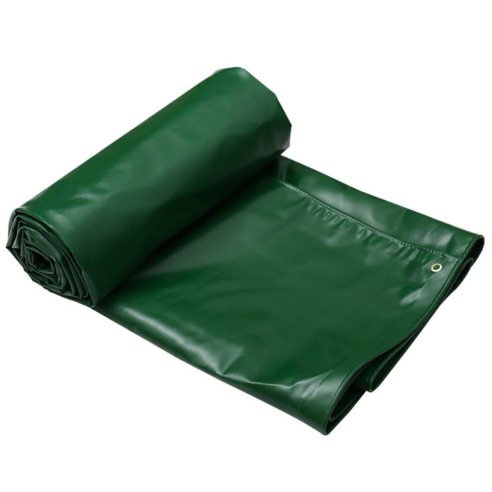GUOWEI-pengbu ターポリン キャンバス リノリウム カバー 耐寒性 防水 日焼け止め 厚い 腐食保護 ポリエステル糸 屋外 (色 : Green, サイズ さいず : 5.9x3.8m) B07FYK6G7V 5.9x3.8m|Green Green 5.9x3.8m