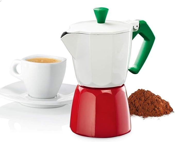 Cafetera Espresso Cafetera Moka Pot Hecha a Mano del pote del café del café doméstica Haciendo Manual Máquina de café del hogar (Color : Blanco, tamaño : 3 Cup): Amazon.es: Hogar