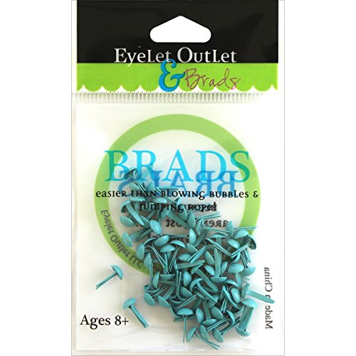 Round Eyelets Pastel - Eyelet Outlet Round Brads (70 Pack), 4mm, Pastel Blue