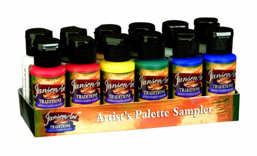 Deco Art 1-Ounce Traditions Acrylic Palette Sampler