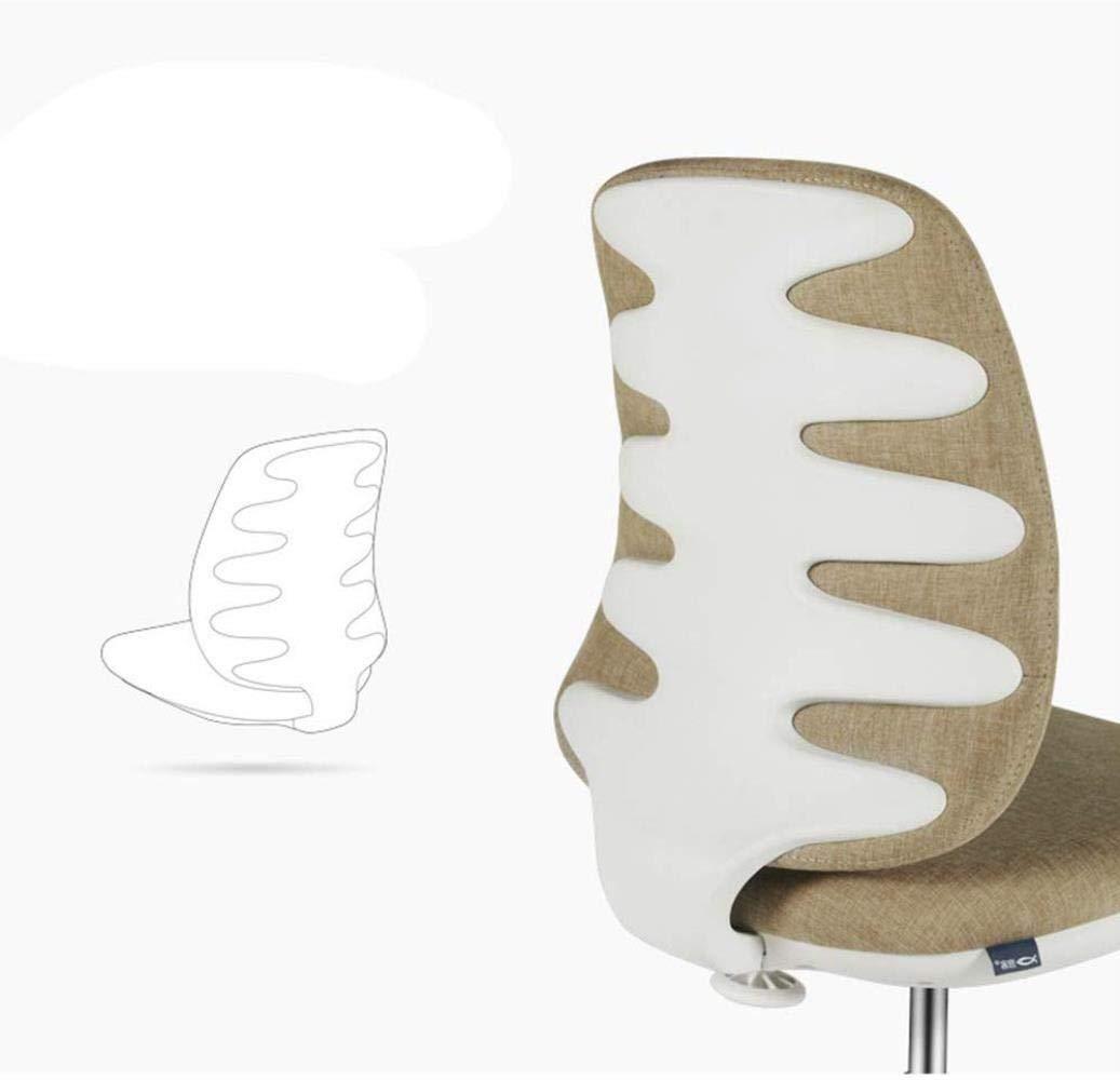 THBEIBEI kontorsstol svängbar stol spelstol datorstol uppgift skrivbordsstol inget armstöd fiskben konsol nylonpedal bärande vikt 200 kg 4 färger (färg: Brun) Röd