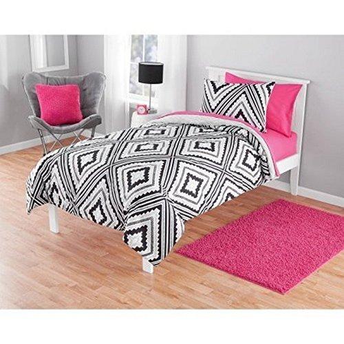 Luxlen Geo Pattern Comforter Set, Reversible, Twin, Aztec
