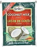 Grace Coconut Milk Powder Envelope, 1.76-Ounce (50g)  (Pack of 12)