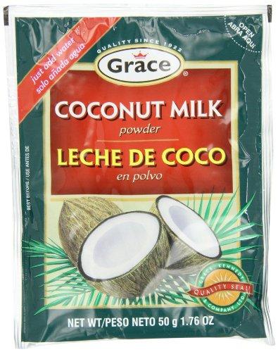 Grace Coconut (Grace Coconut Milk Powder Envelope, 1.76-Ounce (50g)  (Pack of 12))