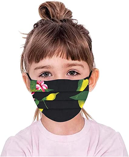 Yinella 50//100PCS Kids Cute Pattern Face Bandanas Protective Childrens Mouth Cloth Cover Outdoor School