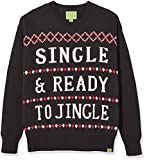 Ugly Fair Isle Unisex Jacquard Single & Ready to Jingle Crewneck Christmas Sweater X-Small Black/White/ Red X-Small Black/White/ Red