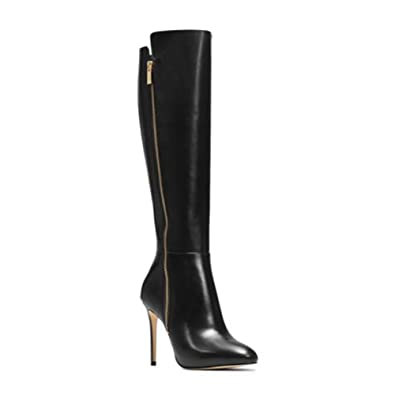 5cc6994856faa Michael Kors Womens High Boot 40F5CLHB5L Smooth Calf 001 Black Nero ...