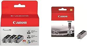 Canon PGI-35 Twin Black & CLI-36 Color Ink (1509B007AB/AE) & PGI-35 Black Ink Tank Compatible to iP100, iP110