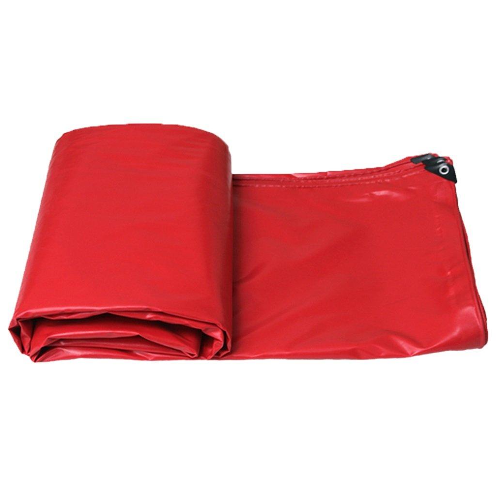 赤い重型ポリタン、プール地のブラスカバーガーデン防雨カバー、テント防水防水カバー (サイズ さいず : 10MX10M/32FTX32FT) B07FYHNNY9 10MX10M/32FTX32FT  10MX10M/32FTX32FT