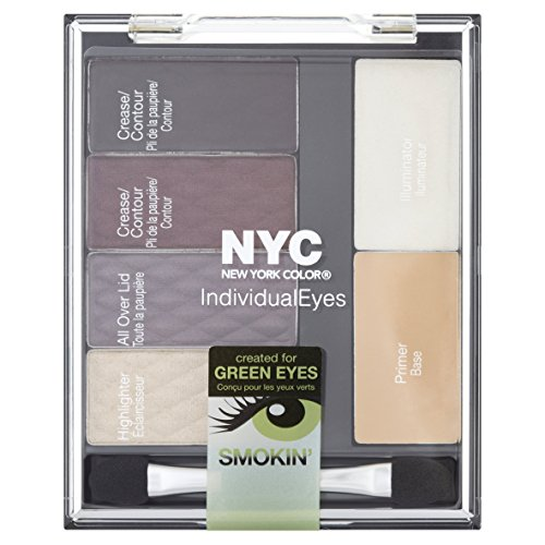 New York Color Individualeyes Custom Compact, Smokey Greens, 1.08 Ounce