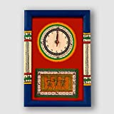 ExclusiveLane Warli Handpainted and Dhokra Work Clock 1510 Inch Red - Decorative Wall Clocks For Bedroom Clocks For Kids Wall DÃcor Gift Items Wall Decorations For Living Room