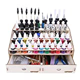 OPHIR Wooden Paint Rack Stand Pigment Ink Bottle