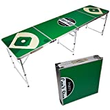 Can't Stop Party Supplies Portable Tailgating Beer Pong Table Easily Foldable w/ Adjustable Height Options - Choose Your Design (Baseball)