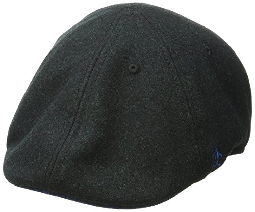 Original Penguin Men's Wool 6 Panel Driver, Black, One Size