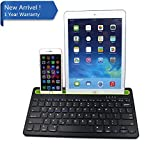 IKOS Multi-Device Bluetooth Keyboard compatible with iOS Android Windows, Universal Wireless Keyboard