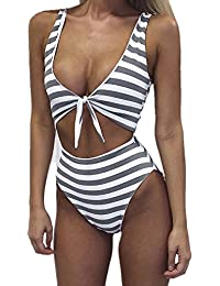 Women's Swimsuits High Waisted One Piece Bathing Suits...