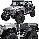 jku fender flare - EAG Steel Fender Flares Front + Rear for 07-18 Jeep Wrangler JK