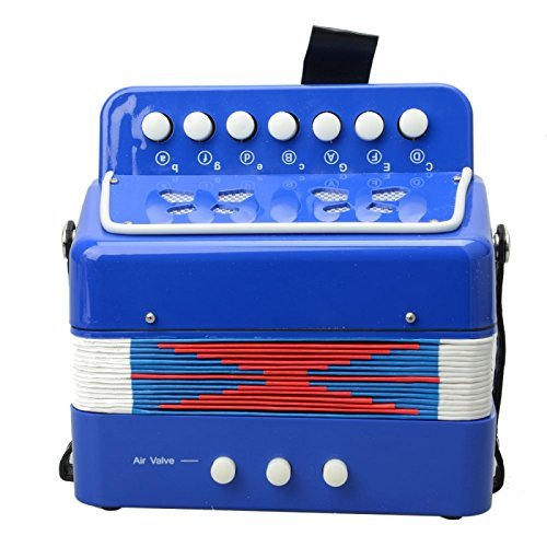 Great Value Other Musical Instruments Accordion-103 Plastic ABS 7 Keys 3 Button Kids Small Child's Toy Piano Accordion Blue