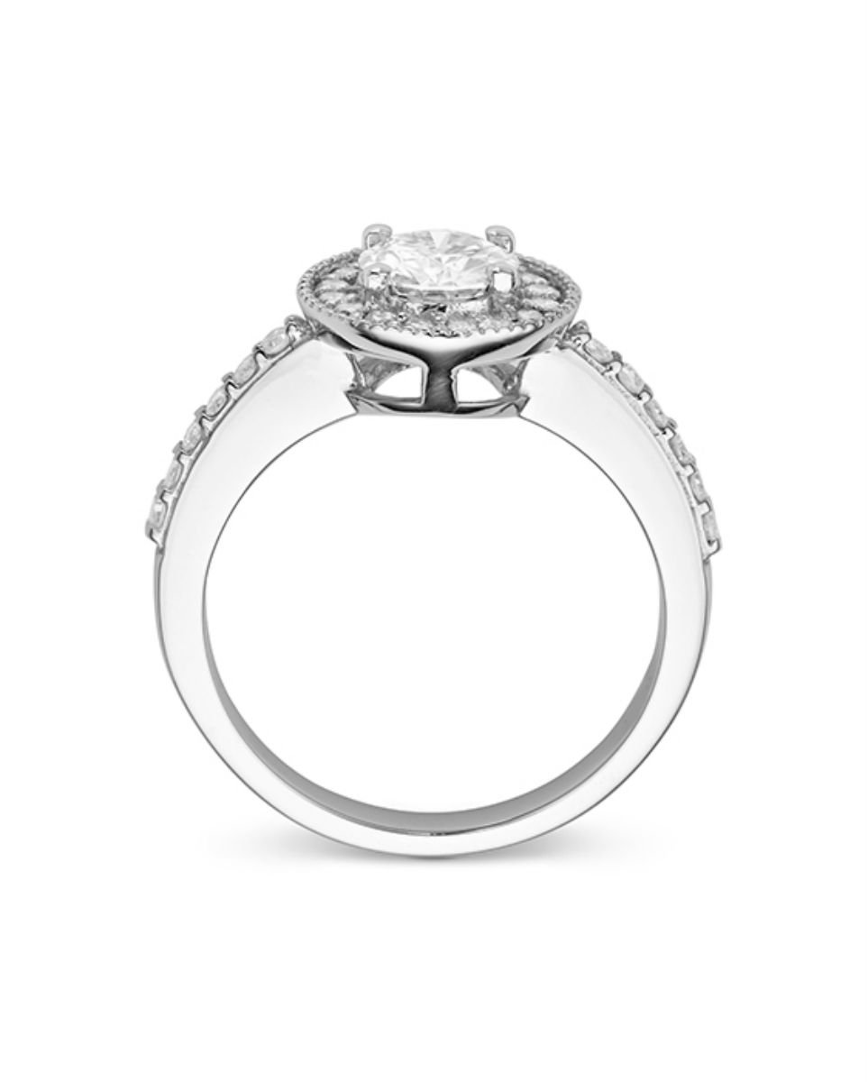 Forever Classic Round 6.0mm Moissanite Engagement Ring-size 6, 1.08cttw DEW By Charles & Colvard by Charles & Colvard (Image #3)