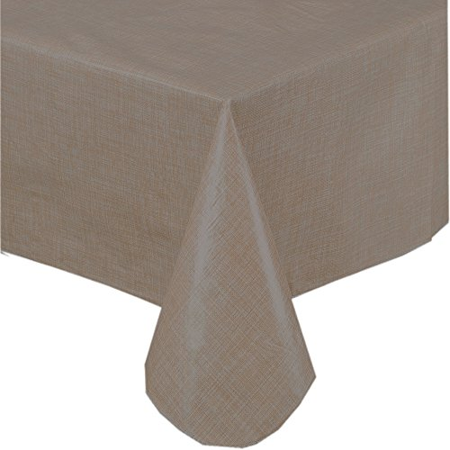 Premium solid color vinyl flannel backed tablecloth 52 x for Table runners 52 inches
