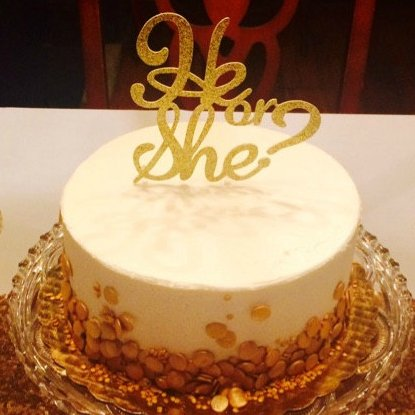 Gender Reveal Cake Topper Amazon
