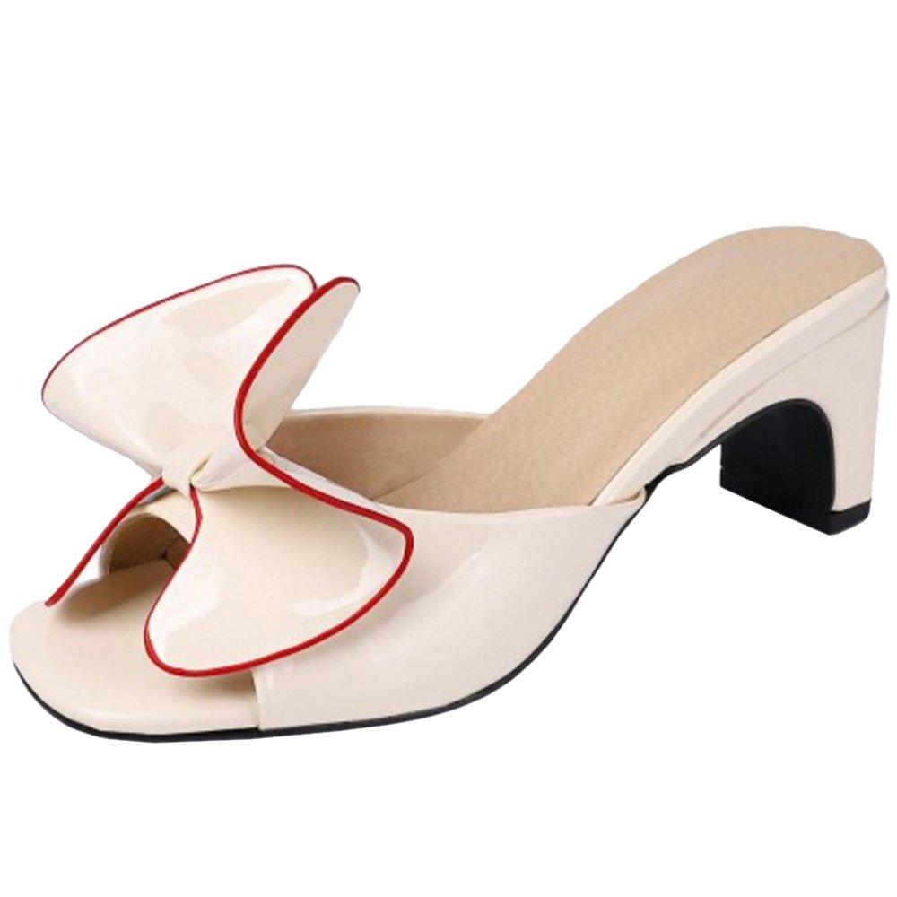 TAOFFEN Enfiler White Femmes Cream Élégant Mules à Enfiler Cream White 5b5c67c - shopssong.space