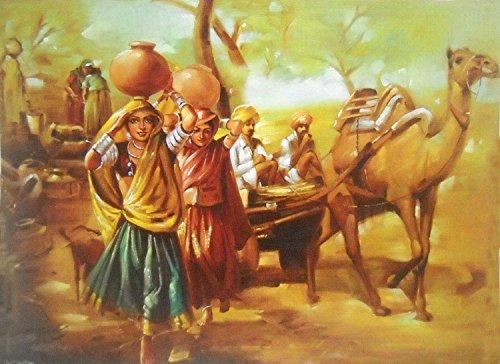 Desert Scene Indian Poster/ Art of India: Reprint on Paper