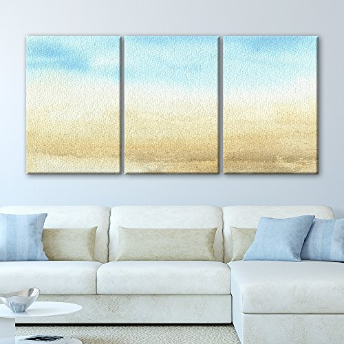 3 Panel Watercolor Painting Style Seascape x 3 Panels