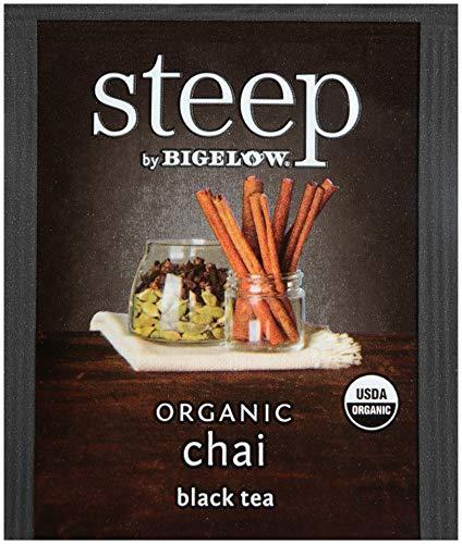 steep by Bigelow Organic Chai Tea, 20 Count (Pack of 6), 120 Tea Bags Total
