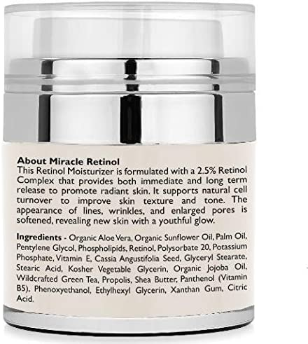 Radha Beauty Retinol Moisturizer Cream for Face With Retinol, Hyaluronic Acid, Tea Tree Oil and Jojoba Oil