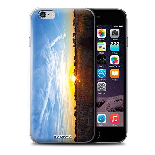 Custodia/Cover Rigide/Prottetiva STUFF4 stampata con il disegno Tramonto scenario per iPhone 6+/Plus 5.5 - Cielo blu