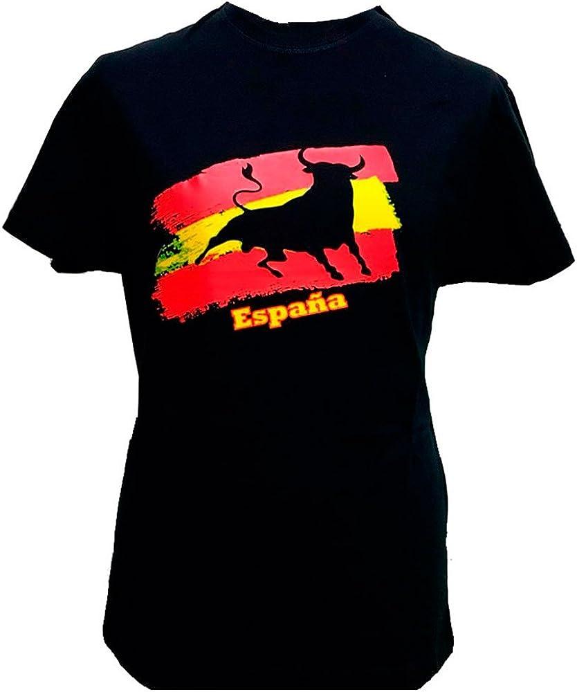 ZiNGS Camiseta Toro y Bandera de España Adulto - Pequeña - S: Amazon.es: Ropa y accesorios