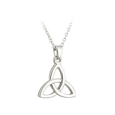 Amazon lucky trinity knot necklace rhodium plated irish pendant lucky trinity knot necklace rhodium plated irish pendant aloadofball Gallery
