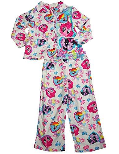 My Little Pony - Little Girls Long Sleeve Pajamas, White 38247-2T
